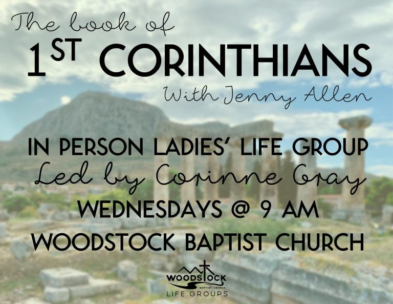 1st Corinthians Ladies' life group - Corinne