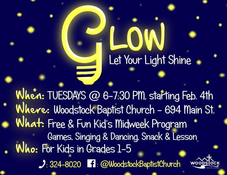 Glow Public Poster.Starting Feb