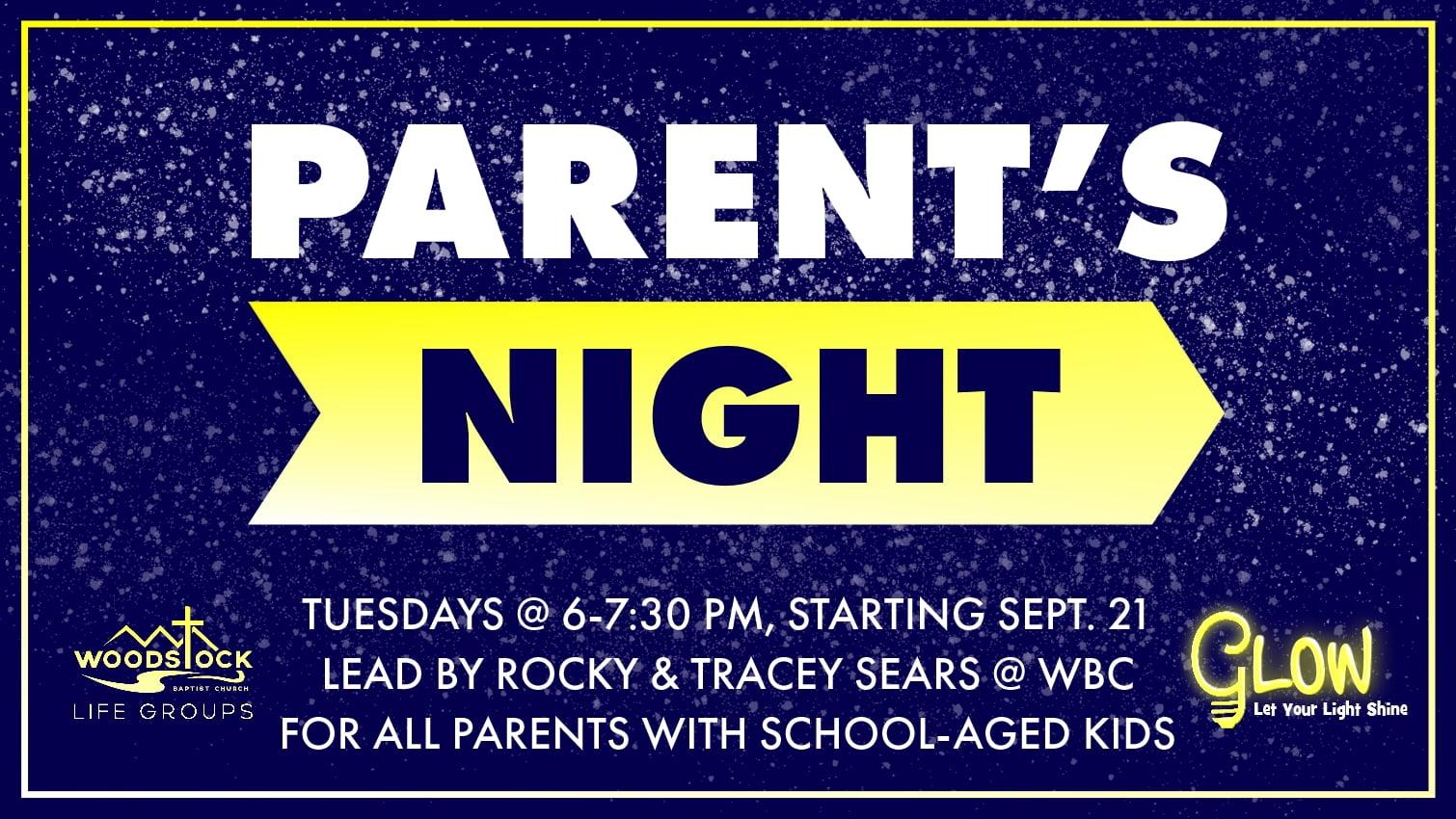 Parent's Night L.G. starting - screen