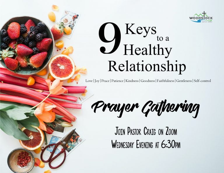 Poster for Prayer Gathering - 9 Keys to a Healthy Relationship