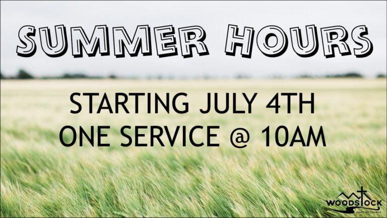Sunday Service Time Change