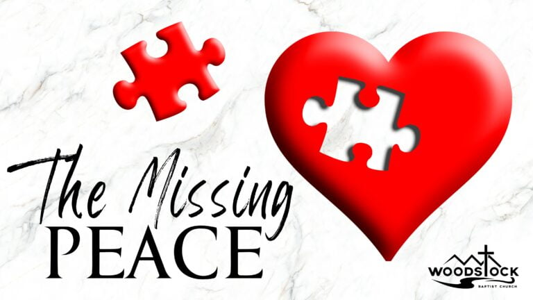 The Missing Peace - Sermon Series Poster