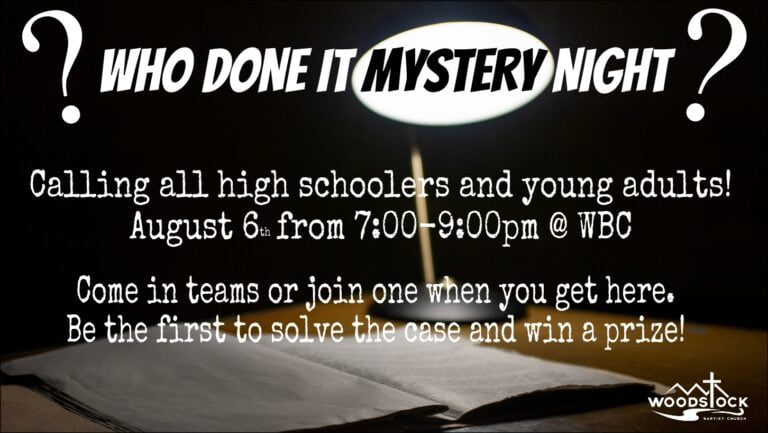 Who Done It Mystery Night
